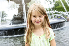 Portrait of little pretty girl. A Portrait of little pretty girl outside Royalty Free Stock Images