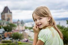 Portrait of little pretty girl. A Portrait of little pretty girl outside Royalty Free Stock Photos