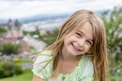 Portrait of little pretty girl. A Portrait of little pretty girl outside Royalty Free Stock Photography