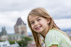 Portrait of little pretty girl. A Portrait of little pretty girl outside Stock Photography