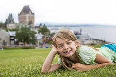 Portrait of little pretty girl. A Portrait of little pretty girl outside Royalty Free Stock Photo