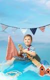 Portrait of a little sailor stock photo