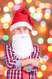 Portrait of a little Santa Claus Royalty Free Stock Image