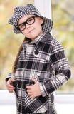 Portrait of a little schoolgirl with books. Portrait of a cute little schoolgirl with books Stock Photos