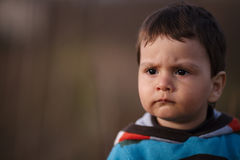 Portrait of little serious boy Royalty Free Stock Photography