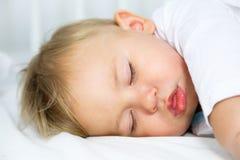 Portrait of Little Sleeping Baby Stock Image