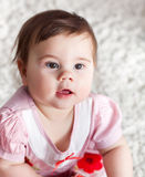 Portrait of little smiling baby girl Royalty Free Stock Images