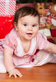 Portrait of little smiling baby girl Royalty Free Stock Image