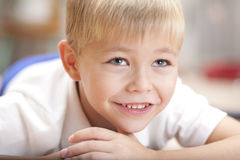 Portrait of a little smiling boy Stock Images