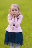Portrait of little surprising girl Royalty Free Stock Image