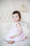 Portrait of a little sweet girl at home Royalty Free Stock Photo