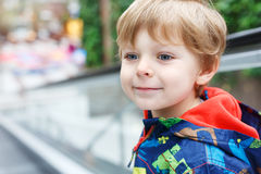 Portrait of little toddler boy two or three years old Royalty Free Stock Photos