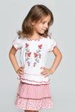 Portrait of a little Ukrainian girl Stock Photography