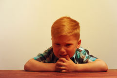 Portrait of little unhappy crying boy Royalty Free Stock Image