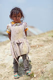 Portrait of little unidentified Nepalese girl Stock Images