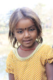 Portrait of a little vagabond kid. Homeless kid. Stock Photography