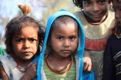 Portrait of little vagabond kids. Homeless kids. Royalty Free Stock Photos