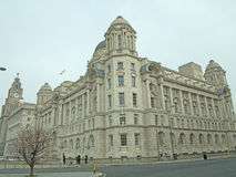 Portrait of the liverpool buildings Stock Images