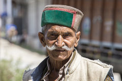 Portrait local old man in Manali, India Royalty Free Stock Photos