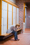 Portrait of a lonely student Stock Photo