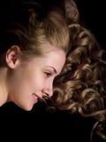 Portrait of long-haired girl Stock Image