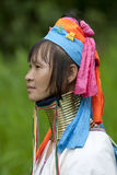 Portrait of long neck woman Royalty Free Stock Images