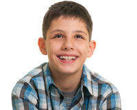 Portrait of a looking up boy Royalty Free Stock Photography