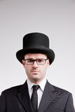 Portrait of a lord with a top hat Stock Photo