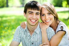 Portrait of love couple Royalty Free Stock Image