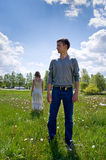 Portrait of love in nature Royalty Free Stock Image