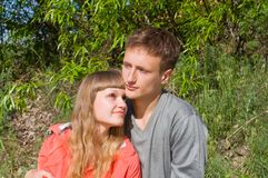 Portrait of love in nature Stock Photo
