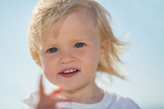 Portrait of lovely baby Stock Photos