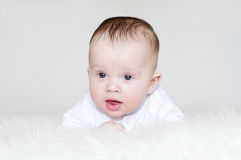 Portrait of lovely baby age of 4 months Stock Photo