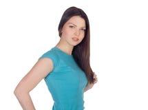 Portrait of lovely brunette Stock Photos