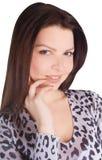 Portrait of lovely brunette Stock Photo