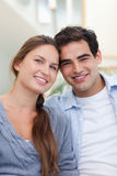 Portrait of a lovely couple Stock Images