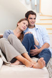 Portrait of a lovely couple Stock Image