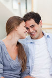 Portrait of a lovely couple looking at each other Stock Photography