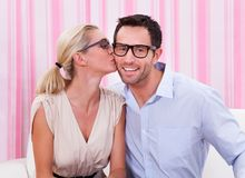 Portrait of a lovely couple Royalty Free Stock Photo