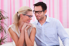 Portrait of a lovely couple Royalty Free Stock Photos