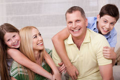 Portrait of lovely family having fun togethe Royalty Free Stock Photo