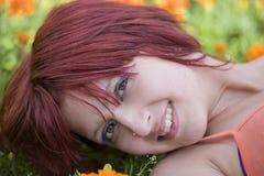 Portrait of the lovely girl Stock Photo