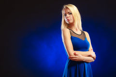 Portrait lovely girl long blond hair Stock Image