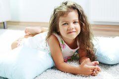 Child on the floor Royalty Free Stock Images