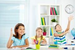 Smart schoolmates Stock Photo