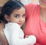 Portrait of lovely hispanic mother and daughter Stock Photography