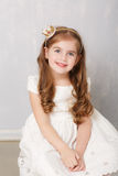 Portrait of  lovely little girl Royalty Free Stock Photos