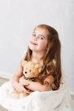 Portrait of  lovely little girl Royalty Free Stock Photo