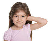 Portrait of a lovely little girl Royalty Free Stock Photography