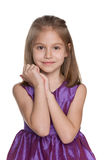 Portrait of a lovely little girl Royalty Free Stock Photos